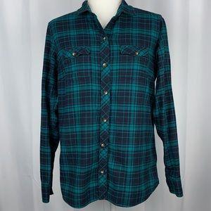 Eddie Bauer Classic Fit Button Up Shirt Size M